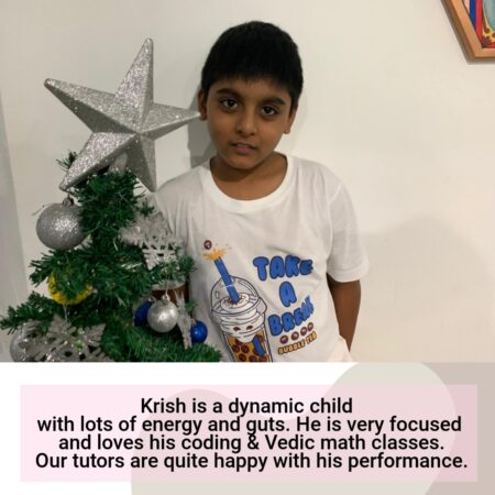 Krish- Onlinne student of guruathome