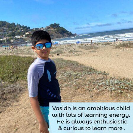 Vasidh- Onine student of guru at home